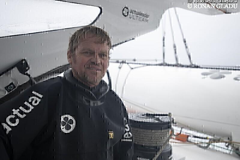Alex Pella, co-skipper Actual Leader - Brest Atlantiques 2019 : Alex Pella, co-skipper Actual Leader - Brest Atlantiques 2019 © RONAN GLADU